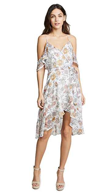 J.O.A. Floral Cold Shoulder Dress