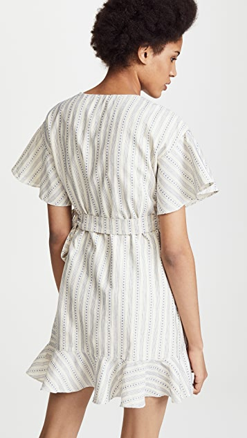 J.O.A. Striped Wrap Dress
