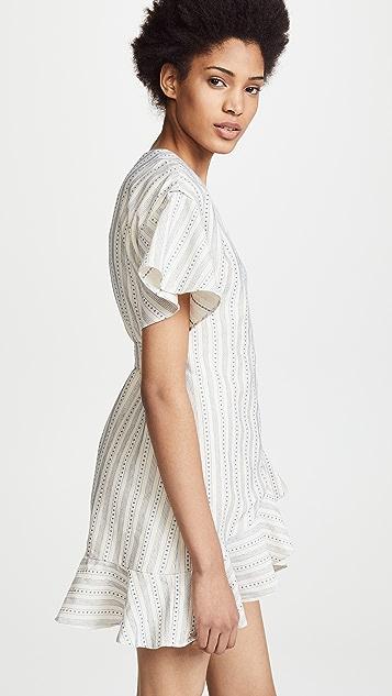 J.O.A. Striped Wrap Dress