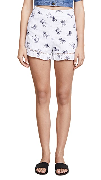 J.O.A. Soft Floral Shorts