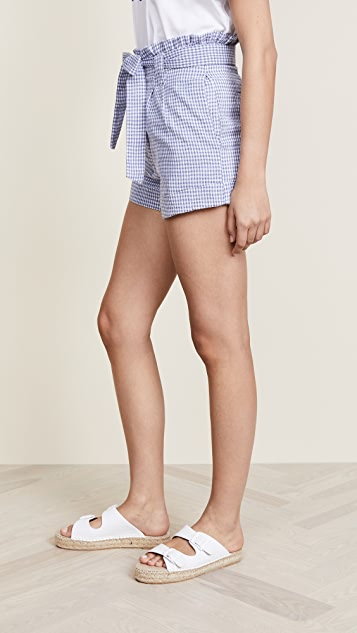J.O.A. Gingham Tie Front Shorts