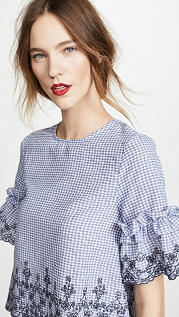 J.O.A. Gingham Blouse