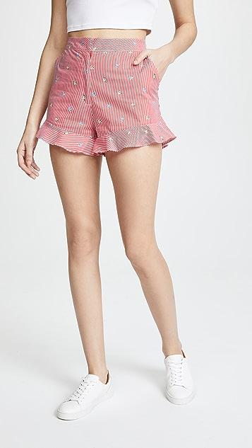 J.O.A. Stripe Shorts