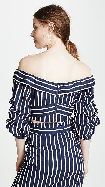 J.O.A. Navy Stripe Blouse