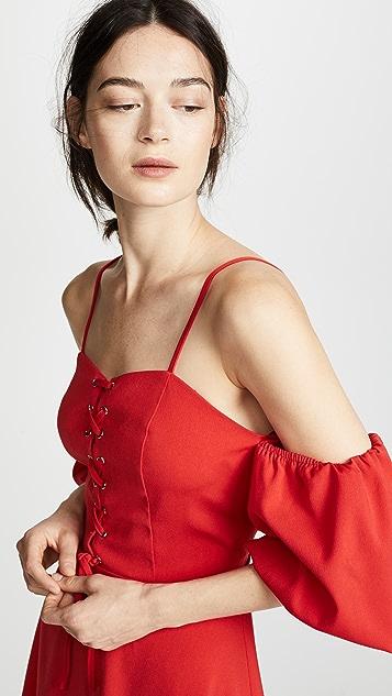J.O.A. Puff Sleeve Dress