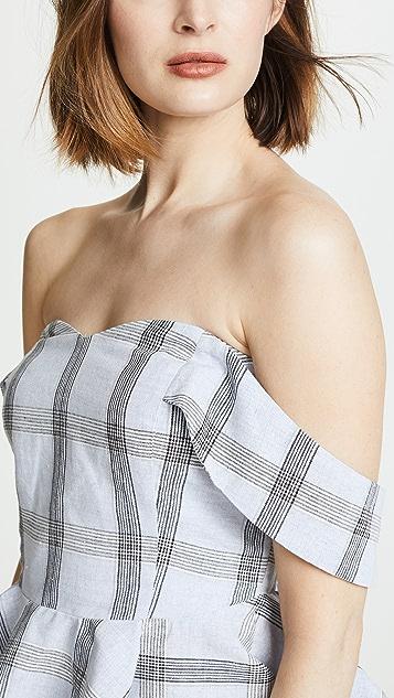 J.O.A. x Chriselle Off Shoulder Peplum Top