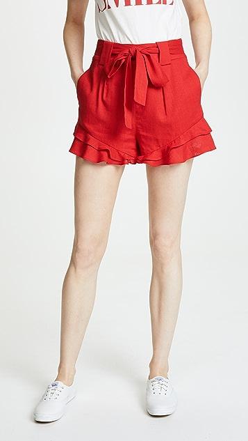 J.O.A. x Chriselle Paper Bag Waist Shorts
