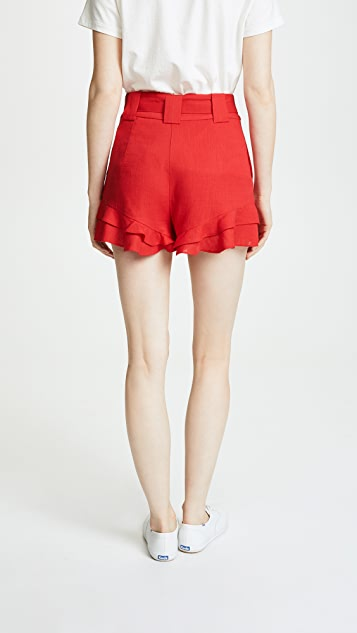 J.O.A. x Chriselle Paper Bag Waist Shorts