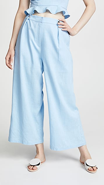 J.O.A. x Chriselle Wide Leg Pants