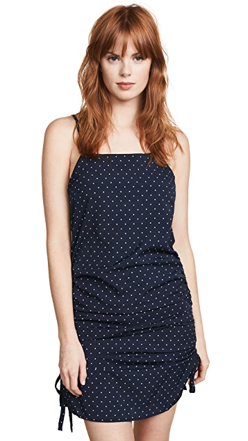J.O.A. Navy Dot Mini Dress