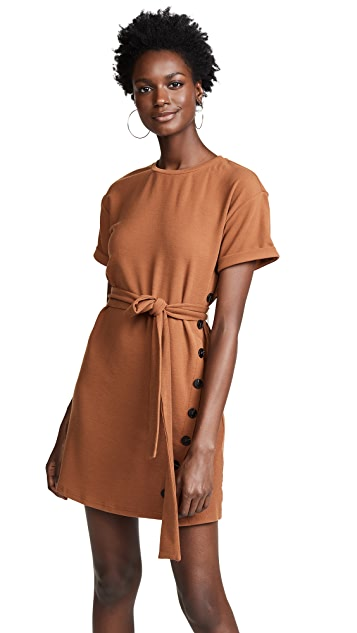 J.O.A. Tie Front Short Sleeve Dress