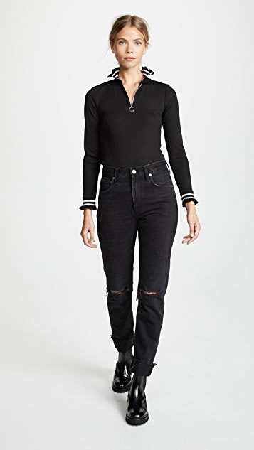 J.O.A. Half Zip Sweater