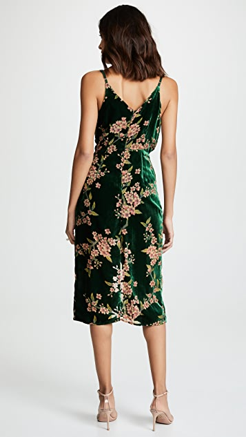 J.O.A. Emerald Floral Dress