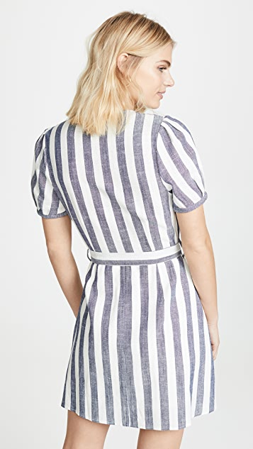 J.O.A. Striped Mini Dress