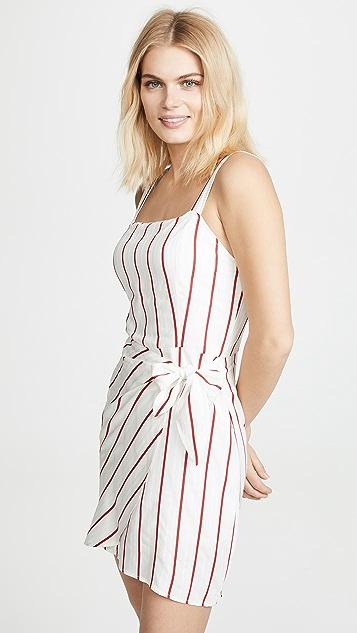 J.O.A. Платье в красную полоску