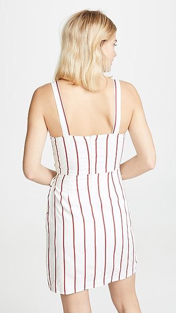 J.O.A. Red Stripe Dress