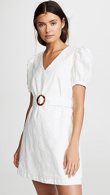 J.O.A. Off White Dot Dress