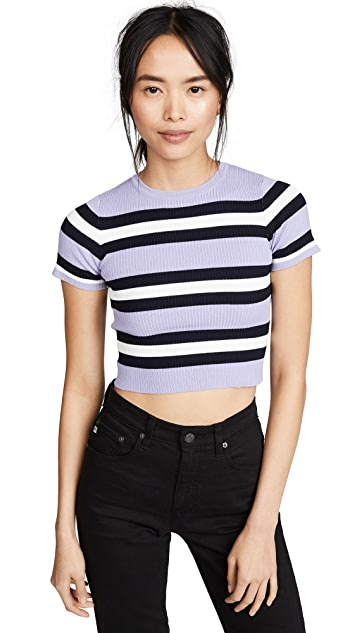 J.O.A. Lavender Stripe Sweater