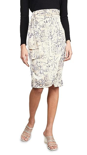 J.O.A. Navy Animal Print Skirt