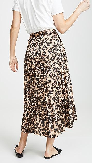 J.O.A. Юбка с блестящим леопардовым принтом