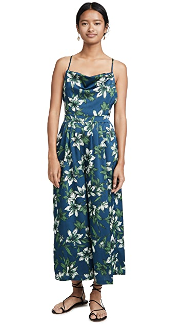 J.O.A. Navy Tropical Jumpsuit