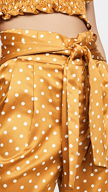 J.O.A. High Waisted Polka Dot Pants