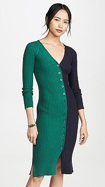 Colorblock Sweater Dress