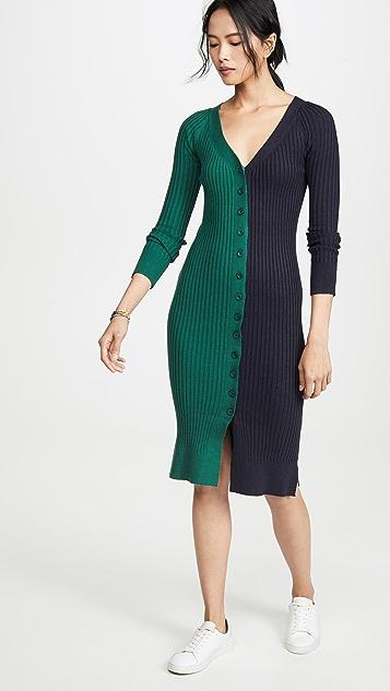 J.O.A. Colorblock Sweater Dress