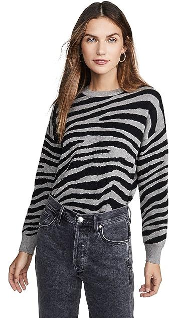 J.O.A.  斑马条纹毛衣