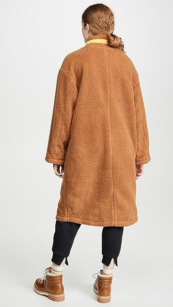 J.O.A.  拉链长款羊羔绒夹克