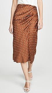 J.O.A. Twist Detail Overlap Skirt