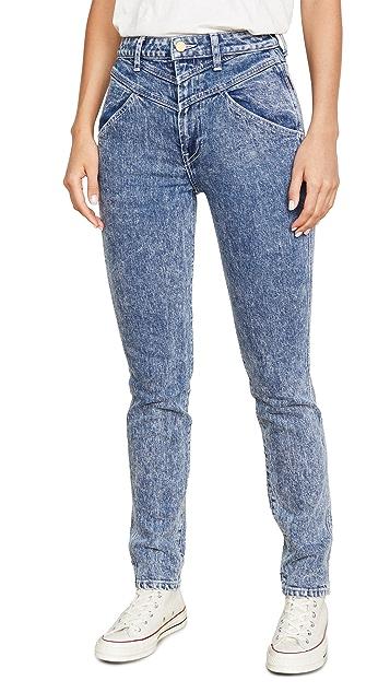 Jordache 混合复古七分牛仔裤