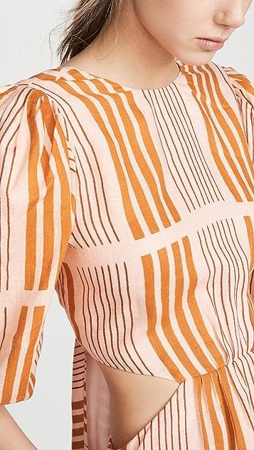 Johanna Ortiz Whispered Sunset Maxi Dress