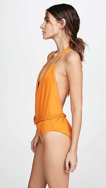 Johanna Ortiz Romantic Sun with Belt One Piece