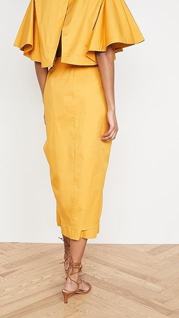 Johanna Ortiz 新颖柠檬元素半身裙