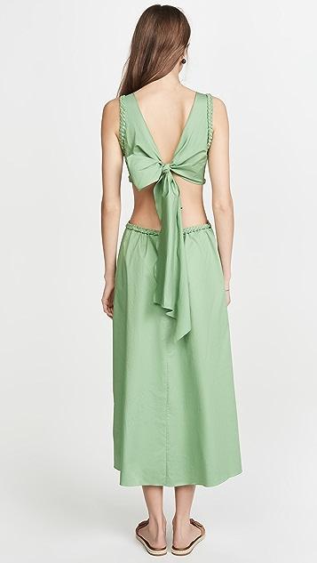 Johanna Ortiz Rowboat Midi Dress