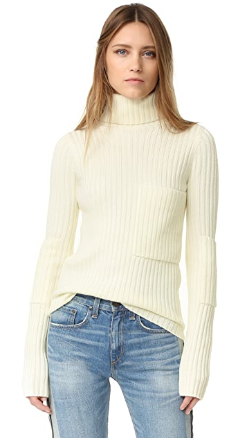 Joseph High Neck Ribbed Sweater