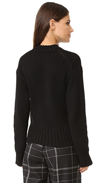 Joseph Lace Up Cashmere Sweater