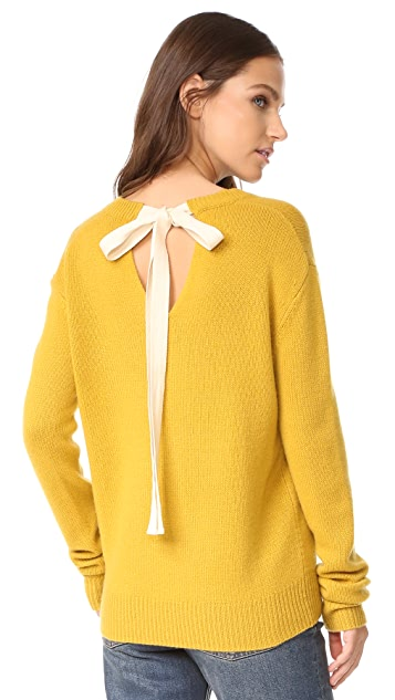 Joseph Tie Back V Neck Cashmere Sweater