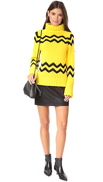 Joseph High Neck Intarsia Sweater