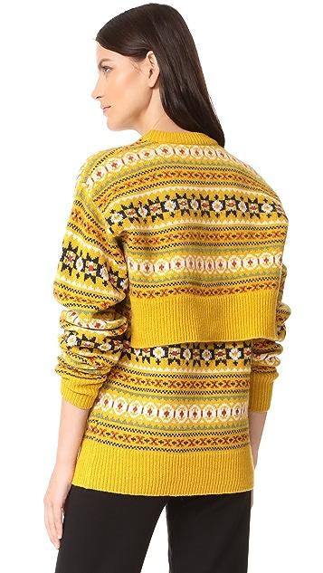 Joseph Round Neck Double Sweater