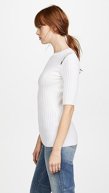 Joseph Ribbed Short Sleeve Sweater