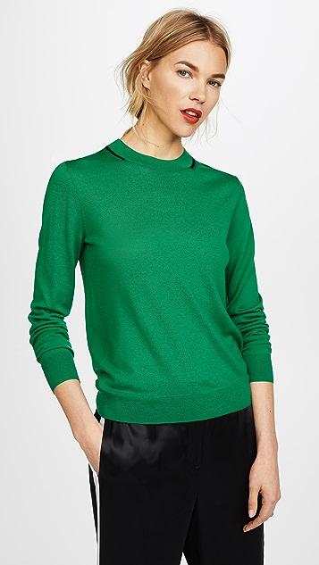 Joseph Ribbed Neck Long Sleeve Sweater