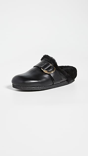 Joseph New Mugello Shearling Mules