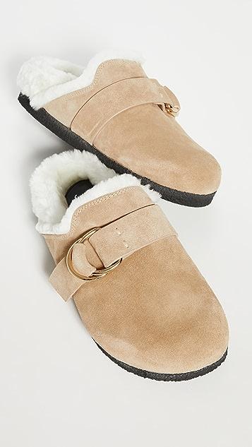 Joseph New Mugello 连毛羊皮穆勒鞋