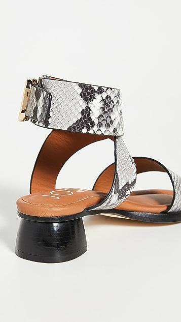 Joseph 粗跟环绕式凉鞋