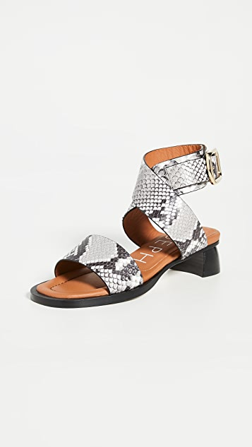 Joseph Block Heel Wrap Sandals