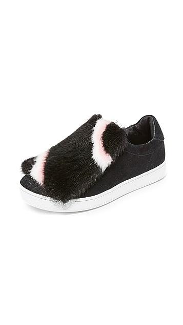 Joshua Sanders Fur Fringe Sneakers