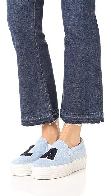 Joshua Sanders LA Platform Denim Slip On Sneakers