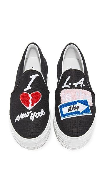 Joshua Sanders The Way Back LA Slip On Sneakers